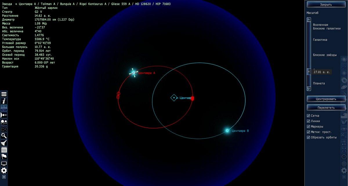 Звездная система в Space Engine