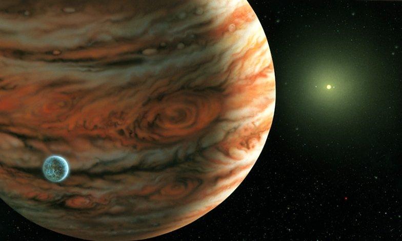 Размер Юпитера по сравнению с Землей