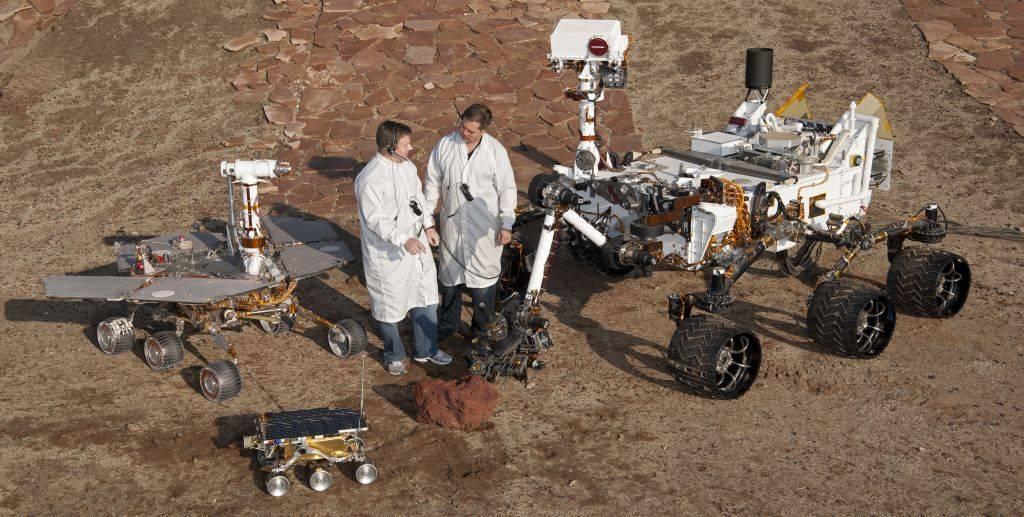 Сравнение размеров марсоходов