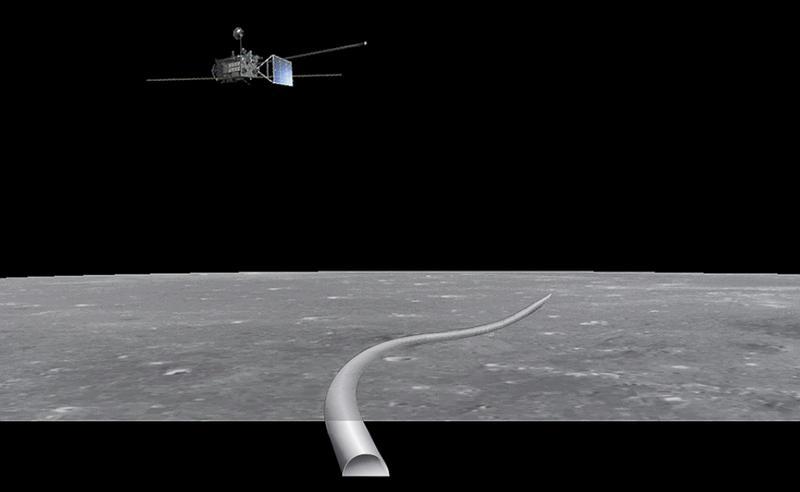 Лавовая трубка, обнаруженная на Луне