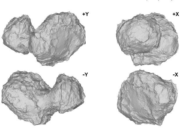 Комета Чурюмова-Герасименко с разных ракурсов.