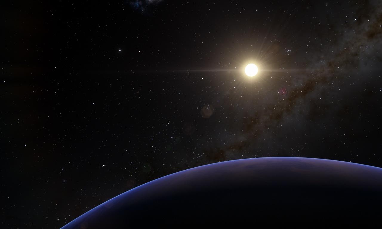 Экзопланета Thestias в лучах Проциона
