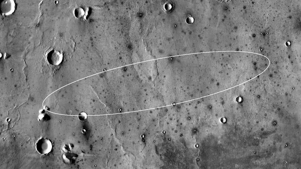 Зона посадки модуля InSight.