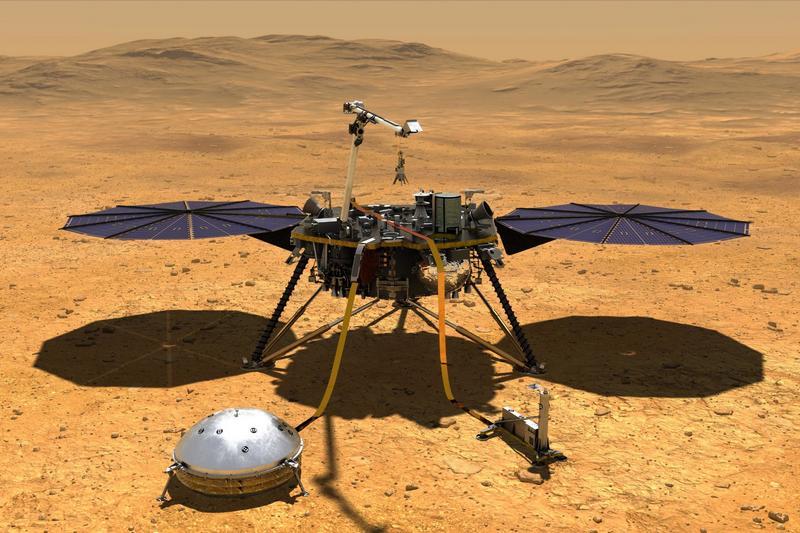 Аппарат InSight на Марсе
