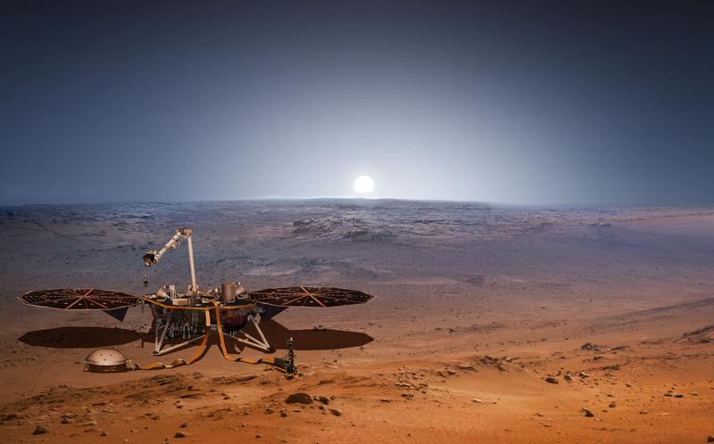 Вот так будет выглядеть модуль InSight на Марсе