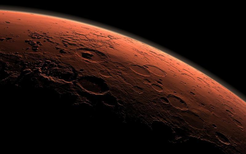 Планета Марс, вид из космоса