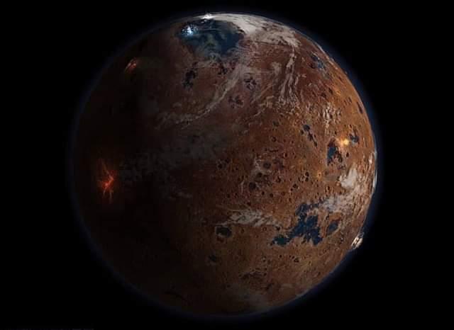 Планета Марс выглядел примерно так 4 миллиарда лет назад