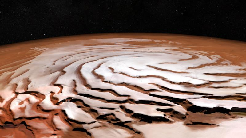 Северная полярная шапка Марса.
