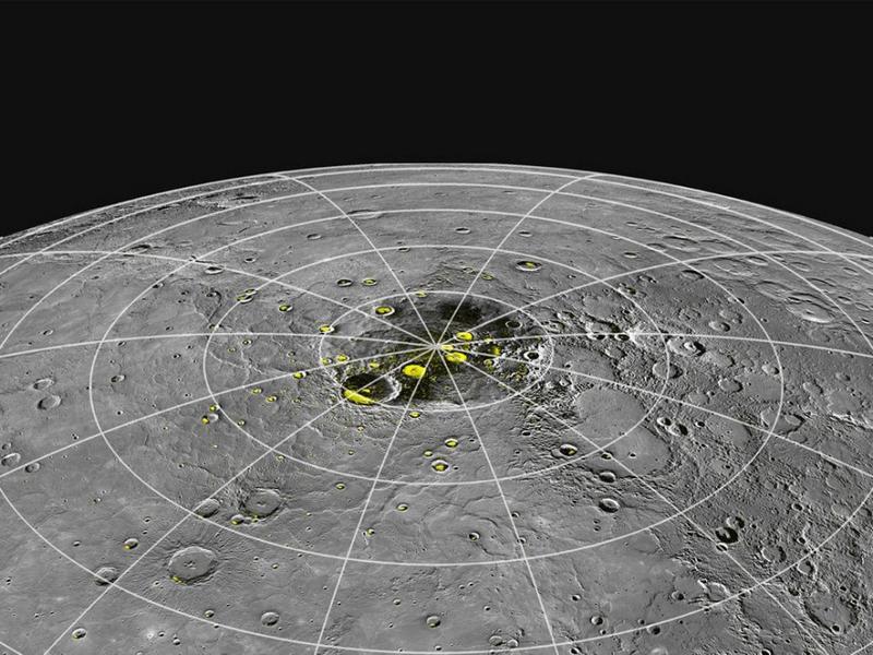 Вода на Меркурии