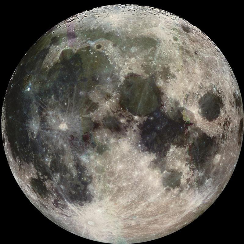 Луна в реальном цвете