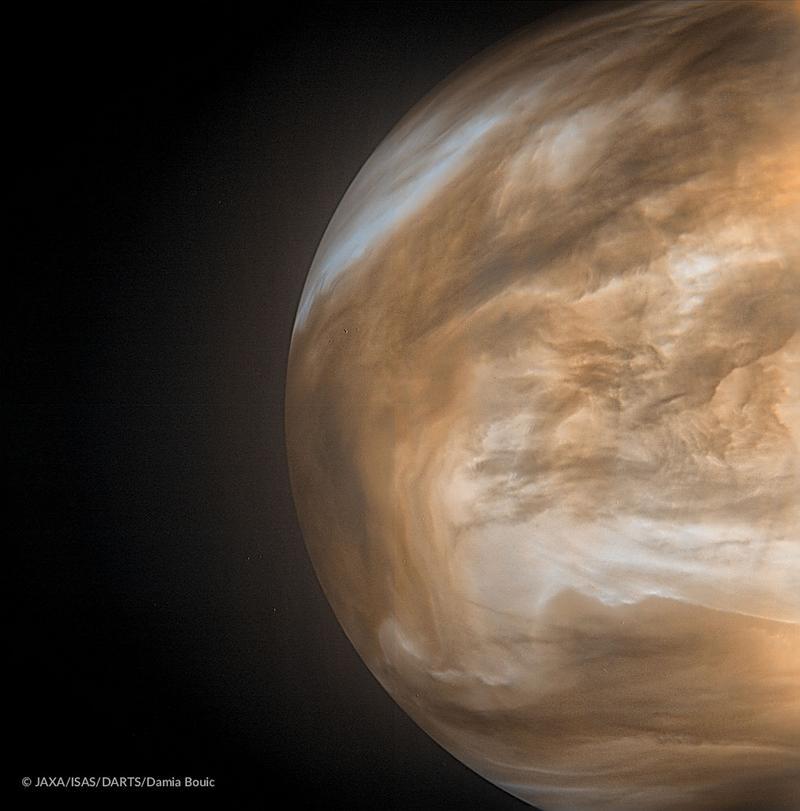 Фото Венеры с орбиты, сделанное японским аппаратом Акацуки.