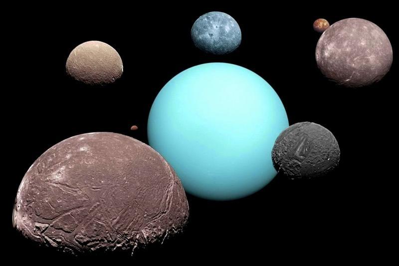 Так выглядят самые крупные спутники Урана.