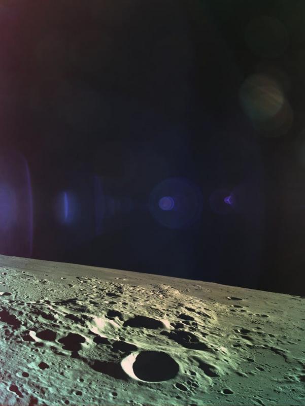 Последний снимок лунной поверхности Beresheet, снятый с высоты 14 км.