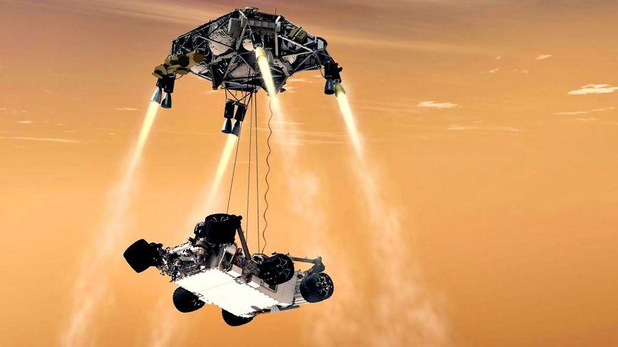 """Так будет происходить посадка марсохода """"Марс-2020""""."""