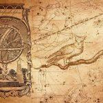 Созвездия на старинной карте