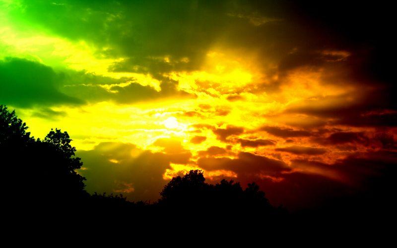 Зелёное небо