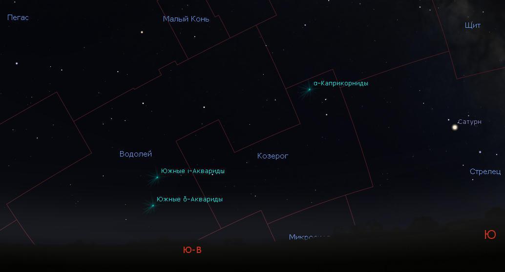 Радиант метеорного потока Южные дельта-Аквариды