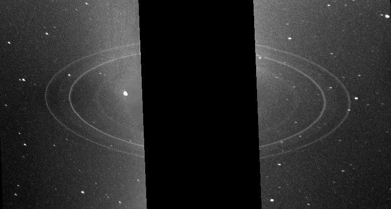 """Кольца Нептуна на снимке """"Вояджера-2"""""""