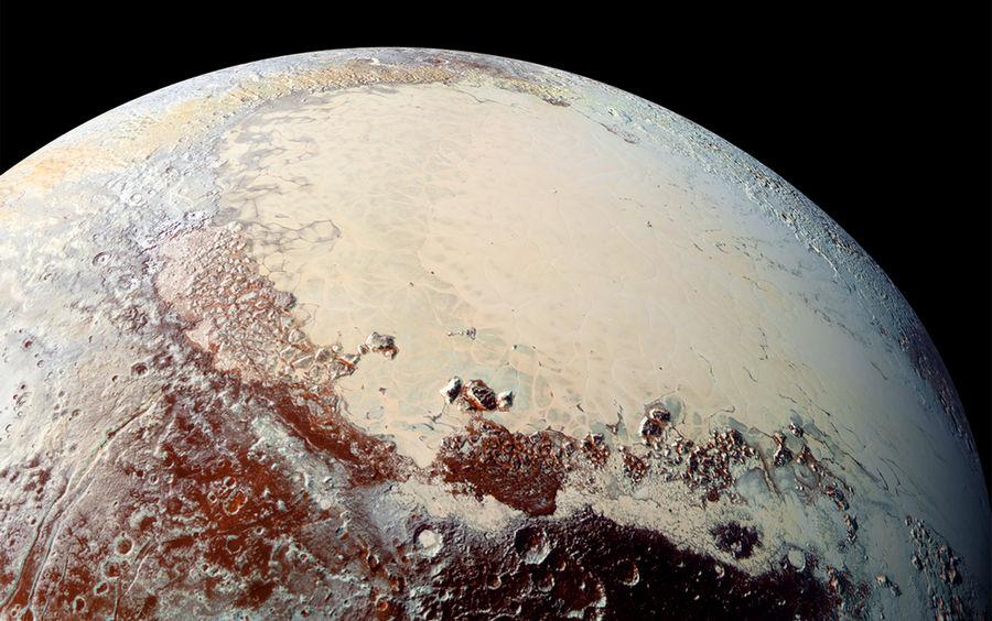 Поверхность Плутона.