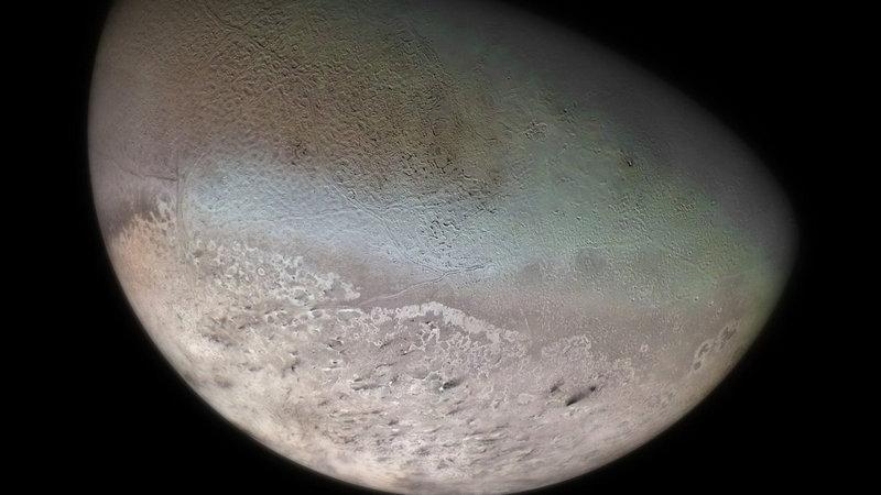 Крупнейший спутник Нептуна - Тритон.