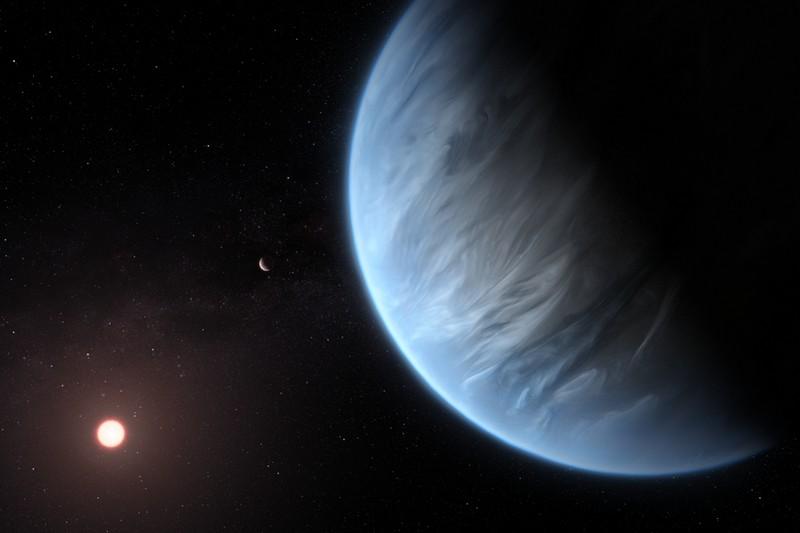 Планета K2-18b , в атмосфере которой найдены водяные пары