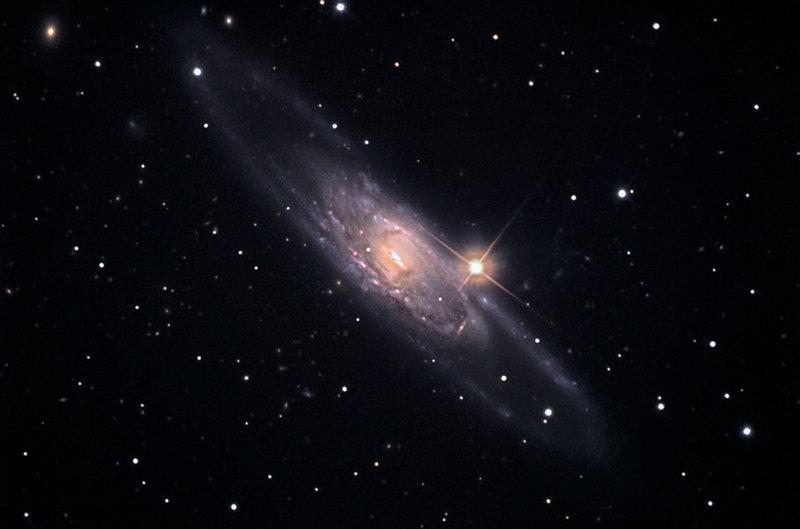 Галактика NGC 5792 в созвездии Весы