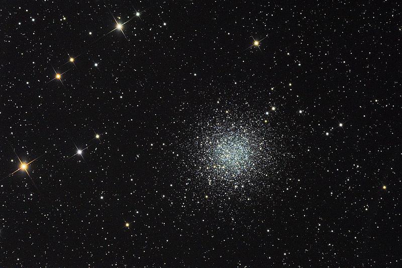 Шаровое скопление NGC 5897 в созвездии Весы