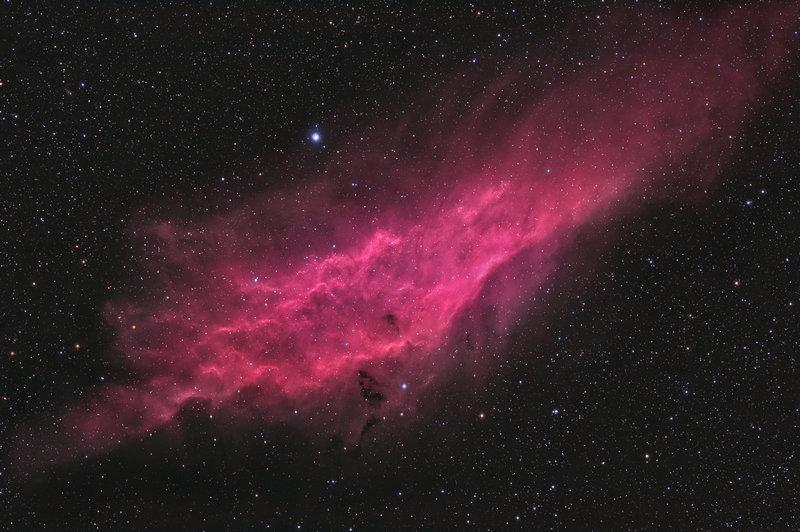 Туманность Калифорния в созвездии Персей