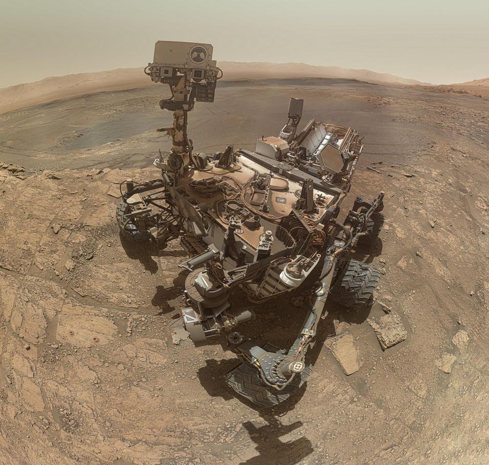 Новое селфи марсохода Curiosity