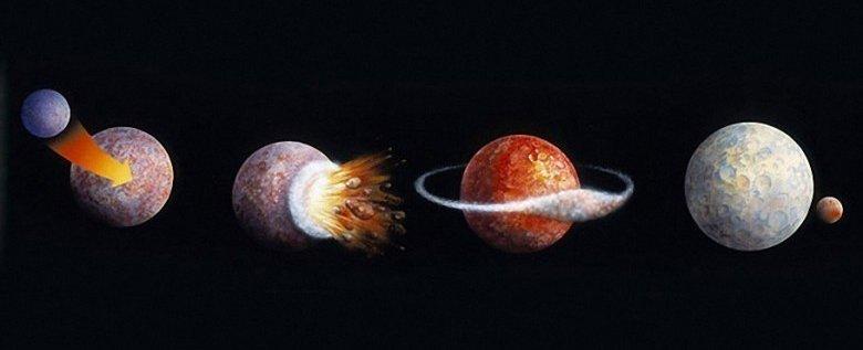 Как появилась Луна - одна из гипотез