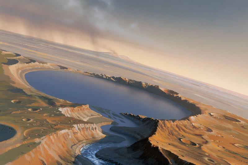 Вода на Марсе.