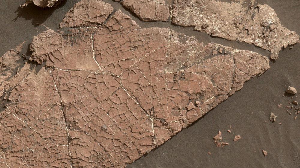 Осадочные породы в кратере Гейла