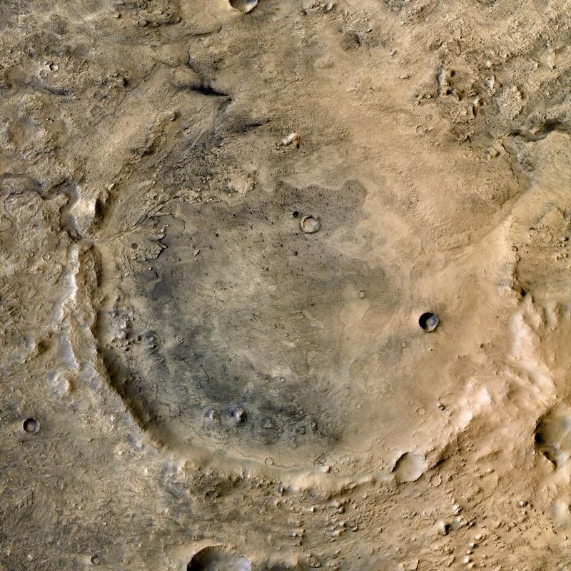 """Кратер Езеро, где """"Марс-2020"""" будет искать признаки жизни."""