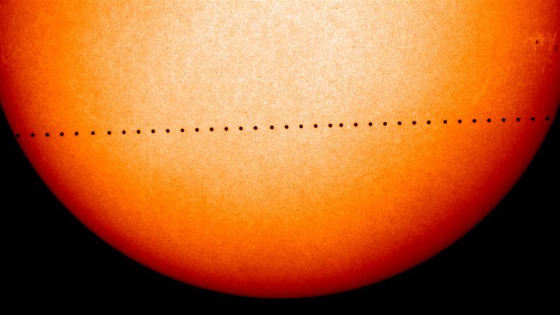 Транзит Меркурия по солнечному диску.