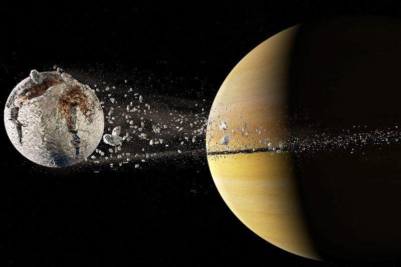 Образование колец Сатурна