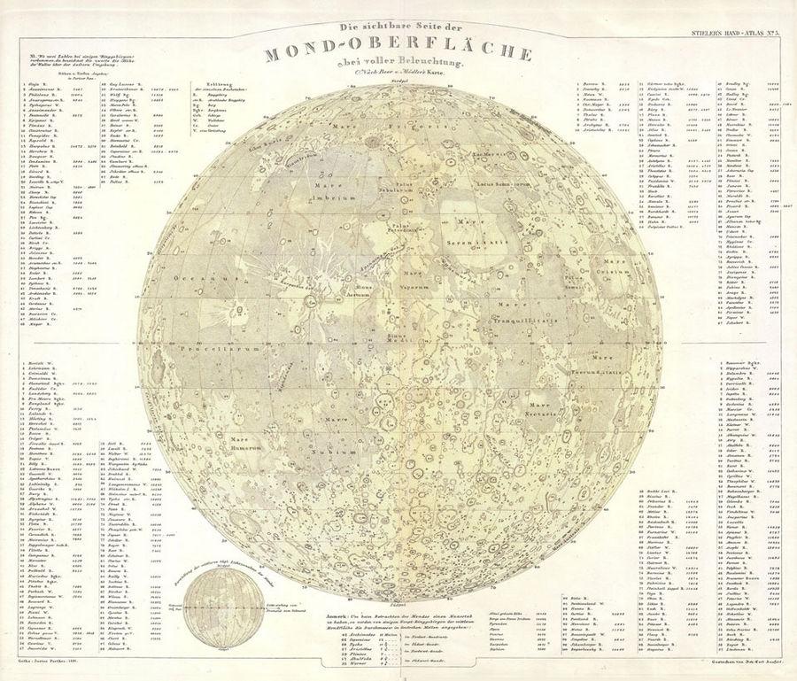 Карта Луны Бера и Медлера.