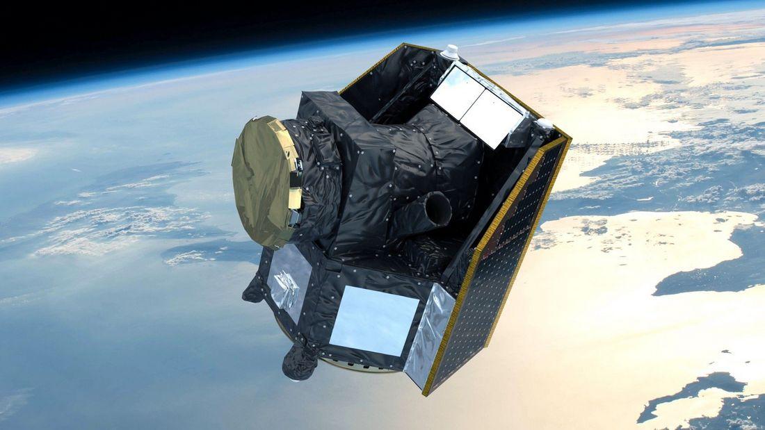 "Космический телескоп ""Хеопс"" на орбите."