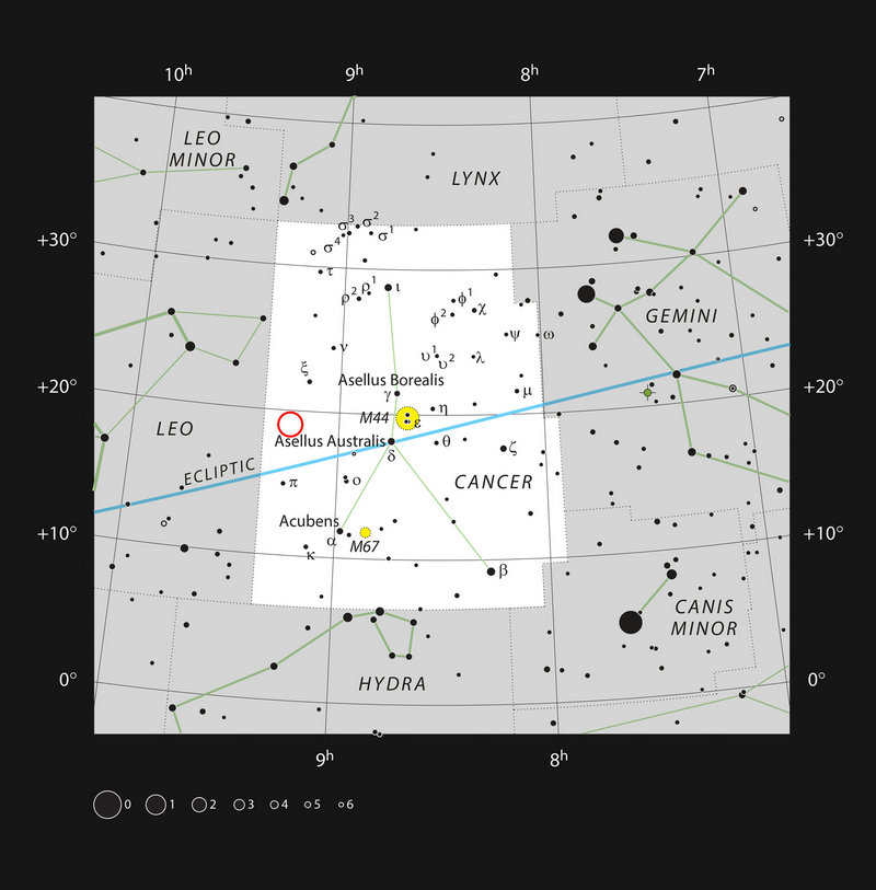 Местоположение WDJ0914+1914 на звездном небе.