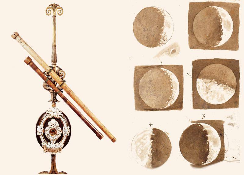 Первая карта Луны и первый телескоп.