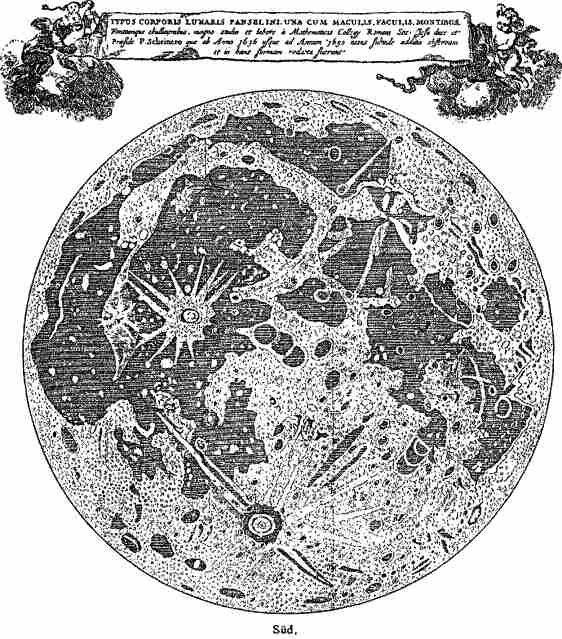 Карта Луны Кристофа Шейнера
