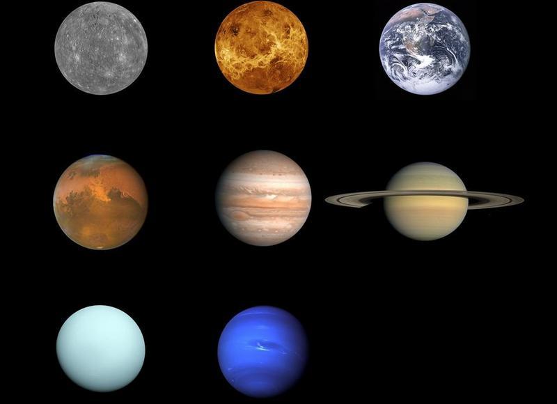 Какого цвета планеты Солнечной системы