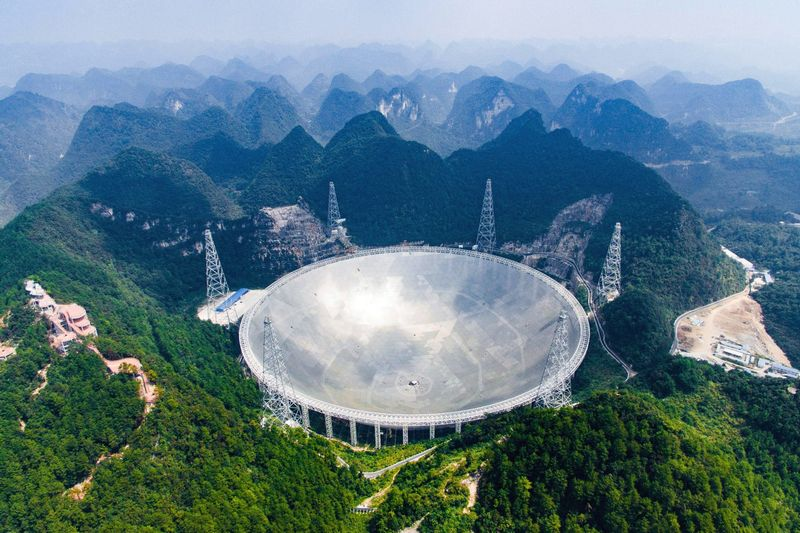 Крупнейший в мире радиотелескоп FAST.