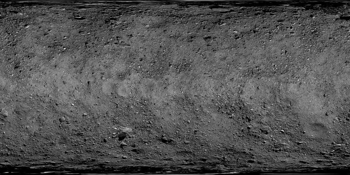 Карта астероида Бенну
