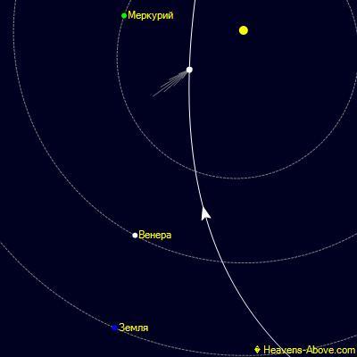 Положение кометы C/2020 F8 (SWAN) 27 мая.
