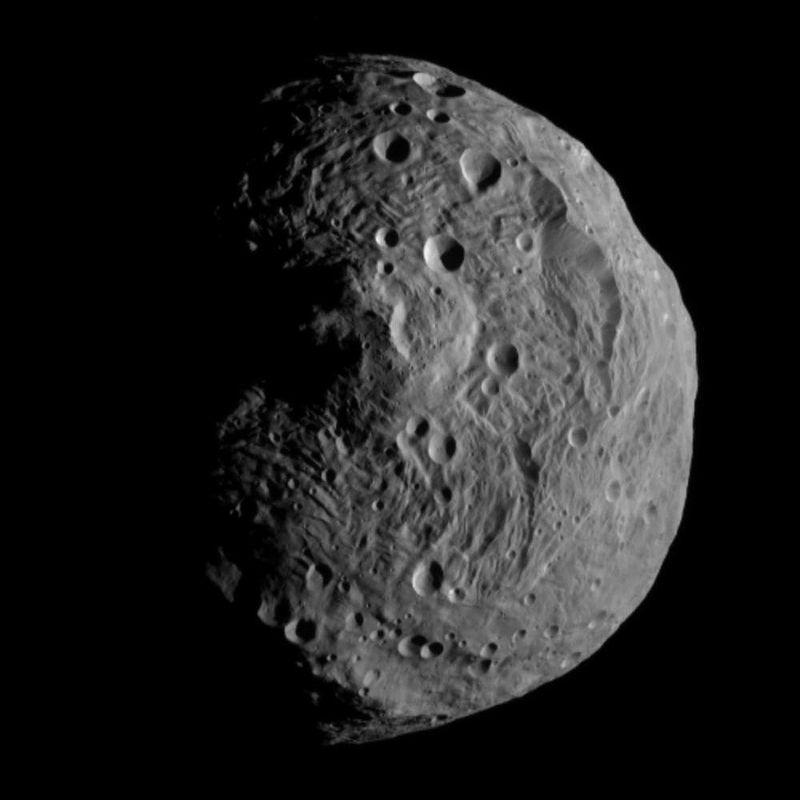 Фотография астероида Веста.