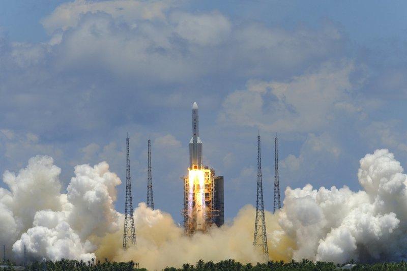 Старт китайской миссии «Тяньвэнь-1» к Марсу