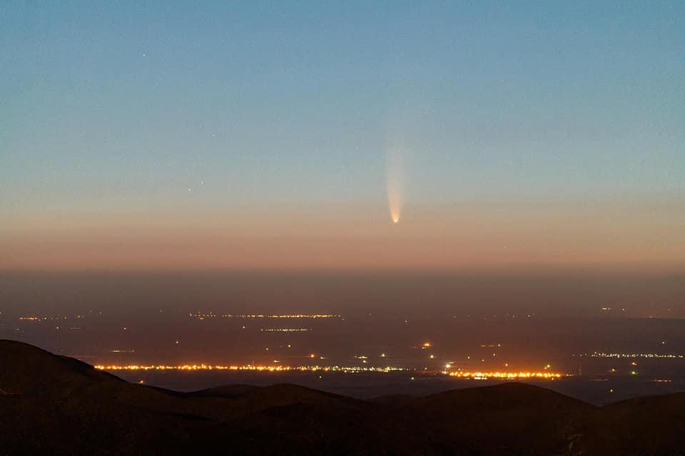 Комета C/2020 F3 (NEOWISE) в Мексике