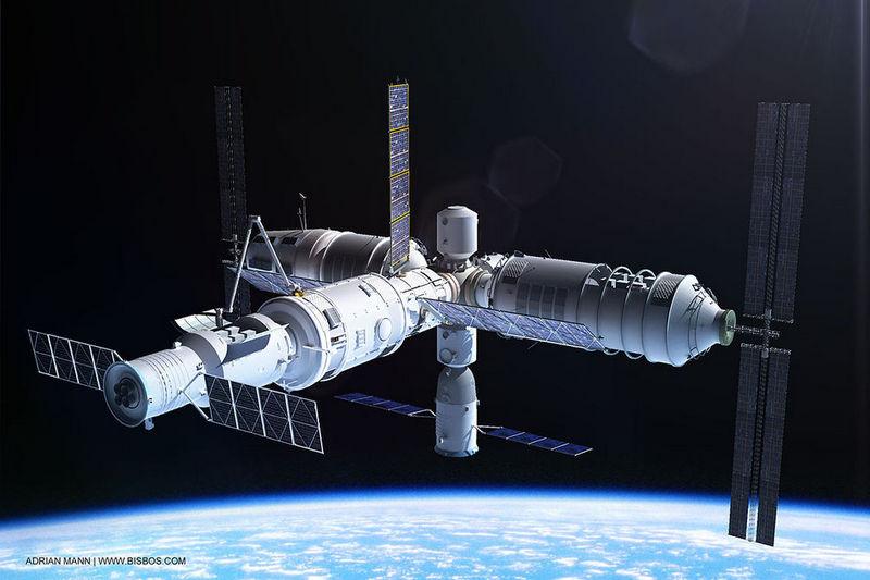 """Так будет выглядеть китайская космическая станция """"Тяньхэ""""."""