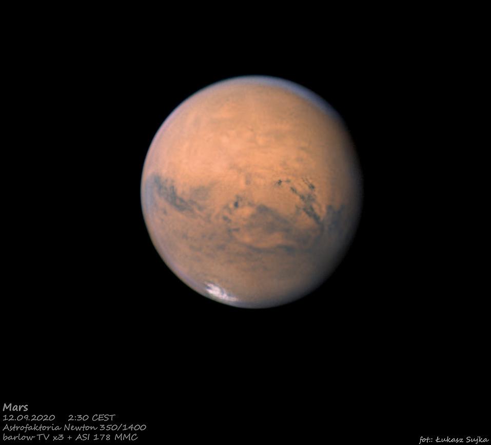 Марс в сентябре 2020 года