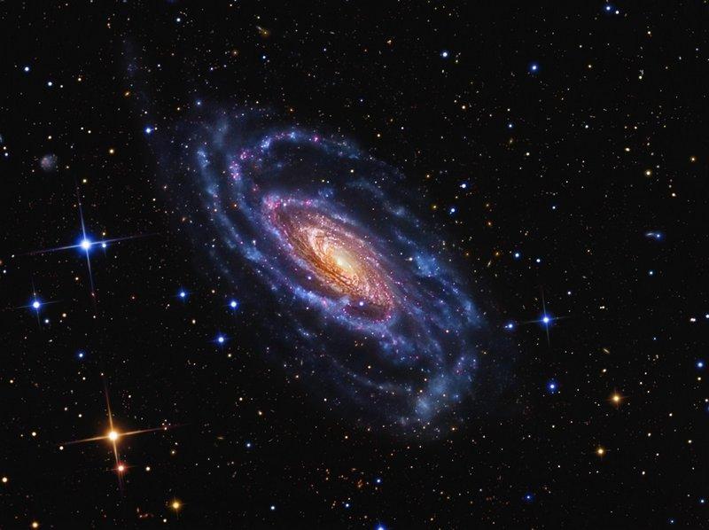 Галактика NGC 5033 в созвездии Гончие Псы